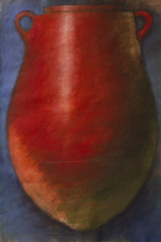 Red Amphora on Blue